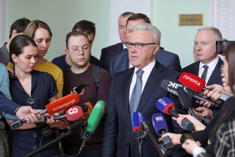 Александр Усс обратился к жителям Красноярского края