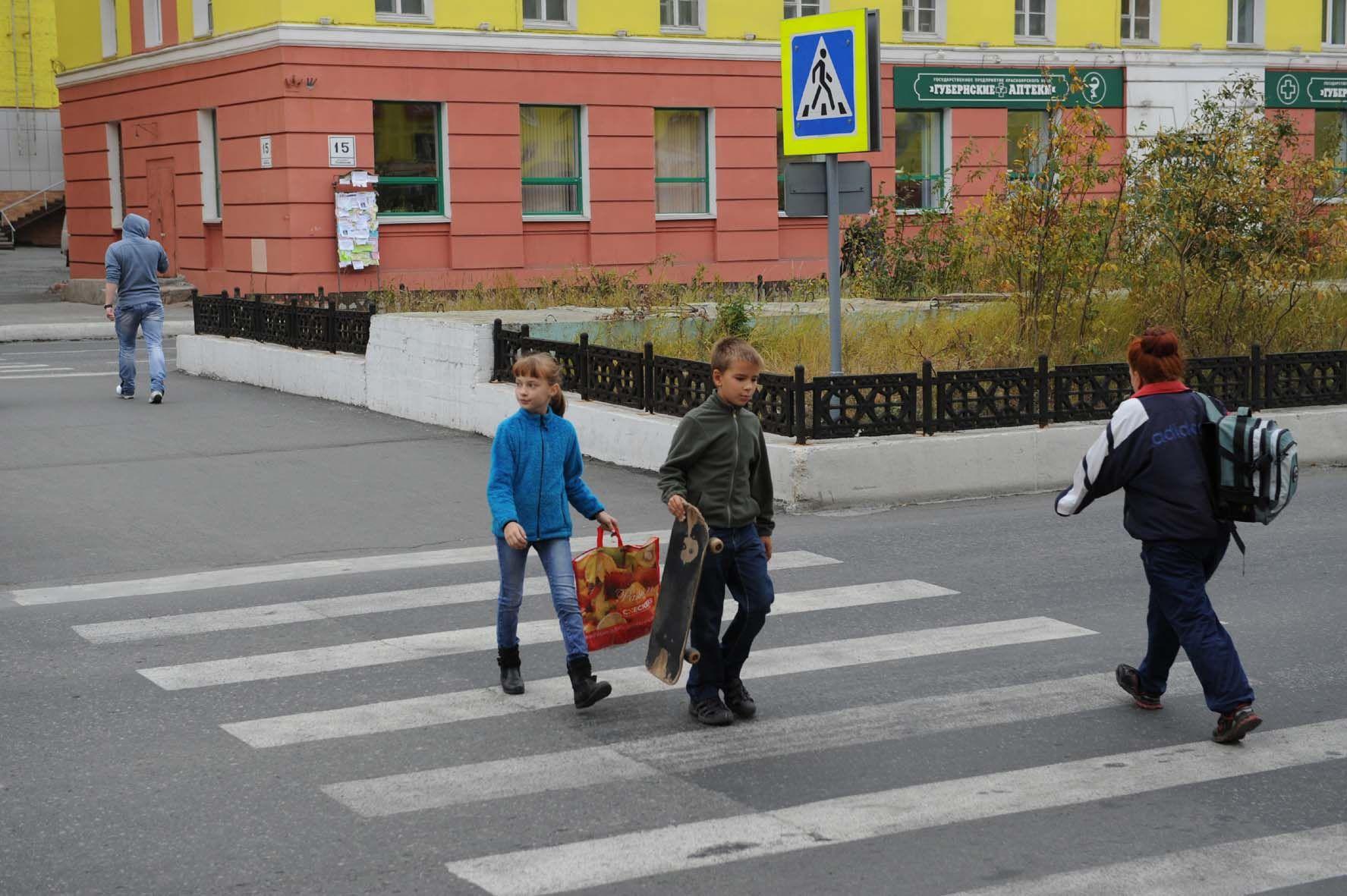 """Акция """"Безопасный путь в школу"""" стартовала в Норильске 2 сентября"""