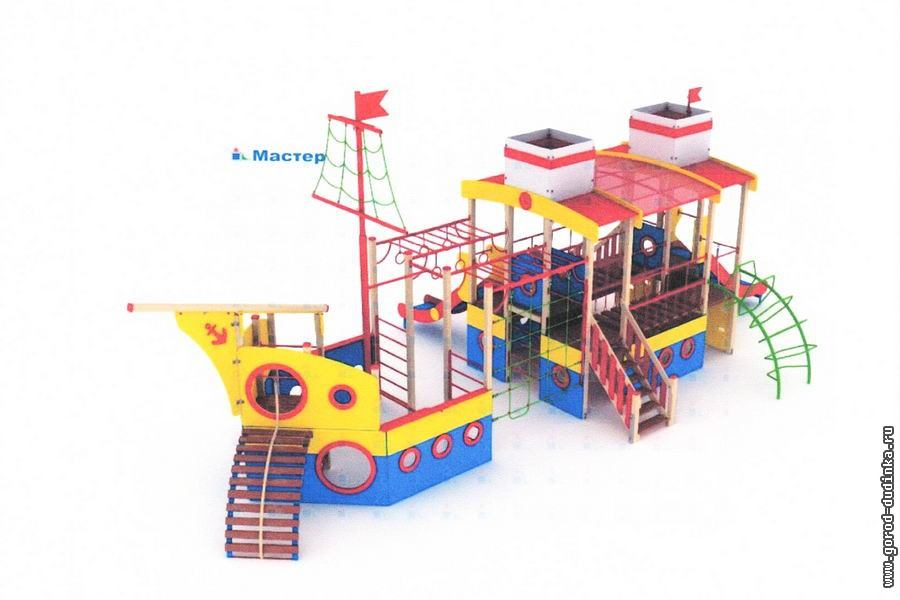 Пять детских игровых комплексов установят в Дудинке в этом году