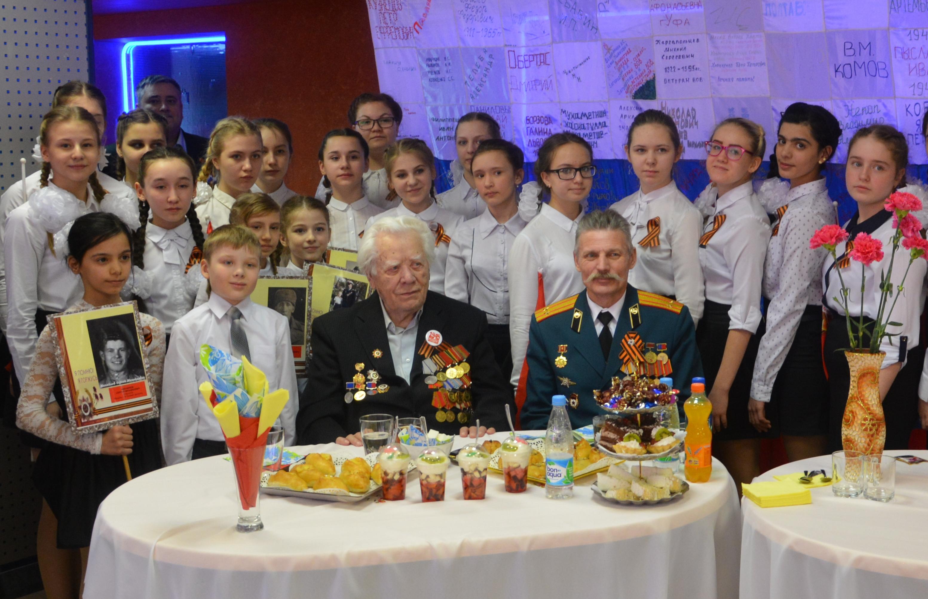 Ветеран ВОВ побывал в Кайеркане на праздничном концерте в честь Дня Победы