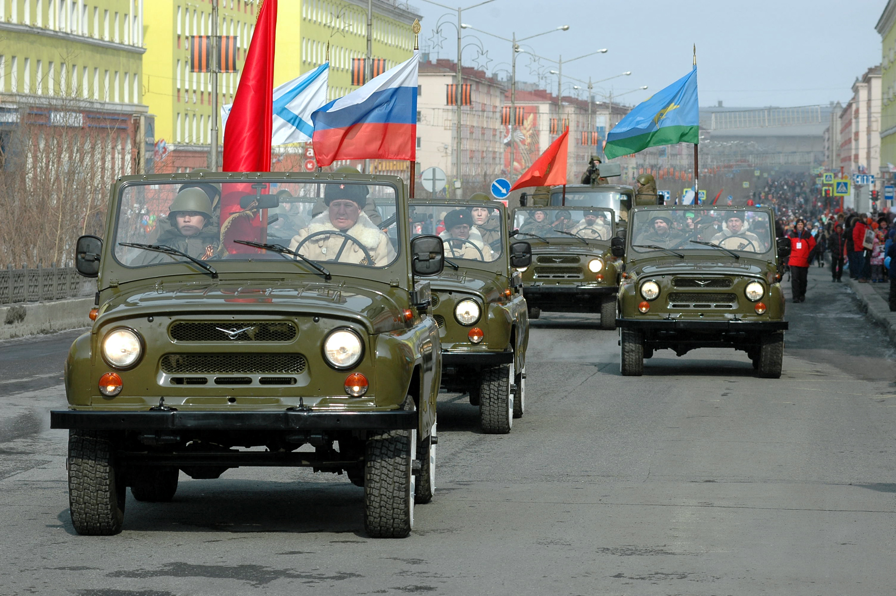 Норильчане отпраздновали 72-ю годовщину Победы в Великой Отечественной войне