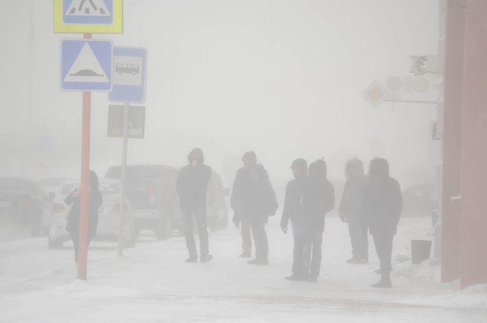Потепление в Норильске наступило вместе с метелью