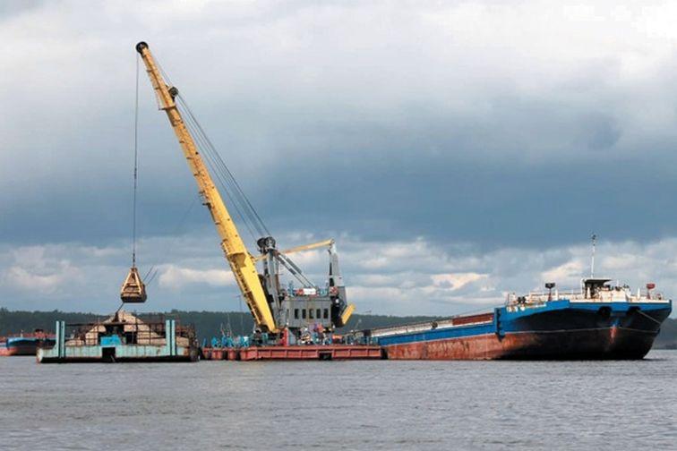 Енисейское пароходство возобновило разработку Сымского месторождения песка