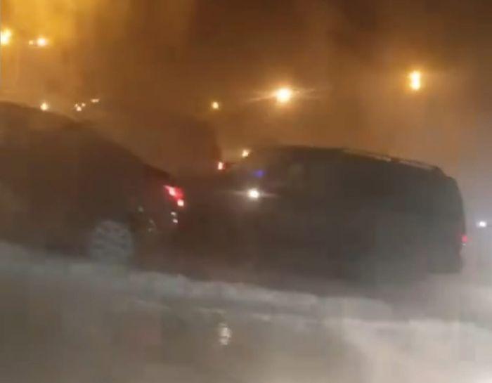 В Норильске из-за прорыва трубы и парения произошло два ДТП