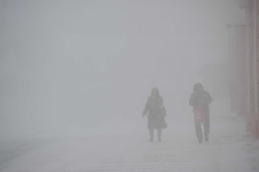 Штормовое предупреждение в Норильске сохраняется