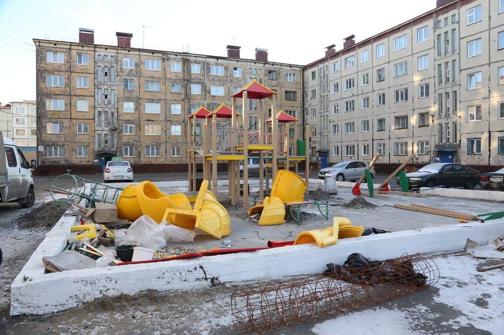 В Норильске откроют новые детские площадки
