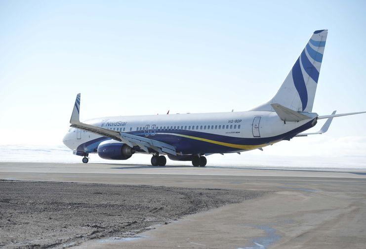 В аэропорту Норильск закончилось бетонирование взлетно-посадочной полосы