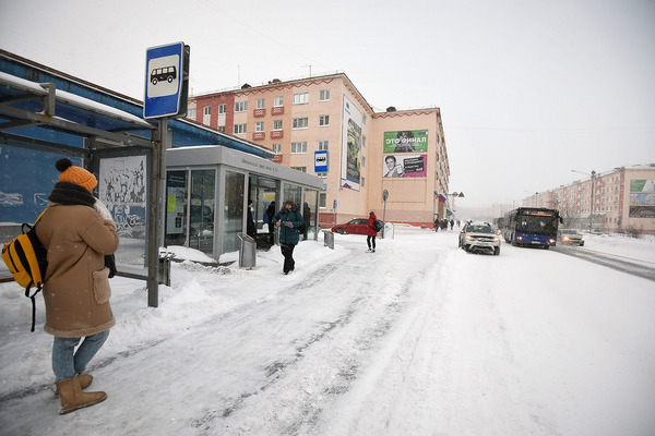 В Норильске заработали теплые автобусные остановки
