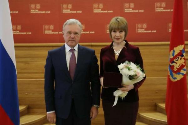 Заместитель главы Дудинки удостоена государственной награды