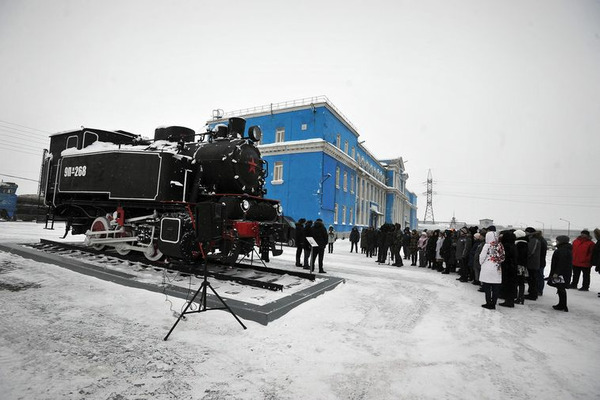 Паровоз 9П сегодня торжественно объявили памятником развития Норильской железной дороги