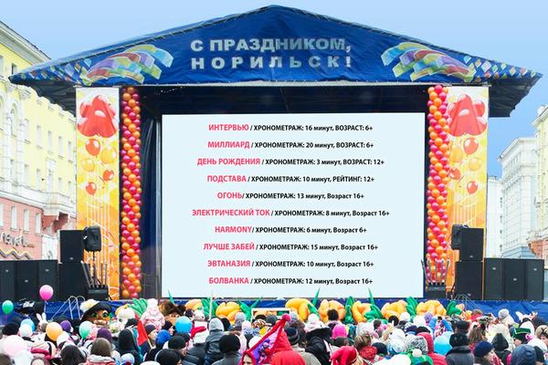 В Норильске пройдет показ Всемирного фестиваля уличного кино