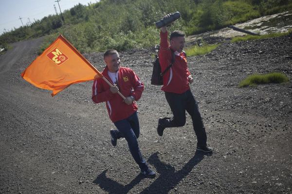 Руководители и работники Медного завода приняли участие в необычном пробеге