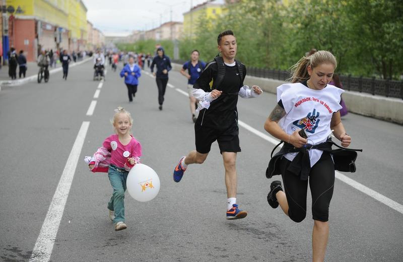 """Благотворительный забег """"Норильск, беги со мной!"""""""