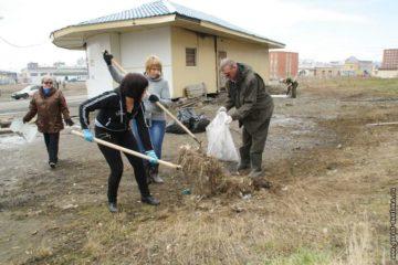 Итог четырех общегородских субботников в Дудинке – 219 кубометров бытового мусора, 64 тонны металлолома и строительного мусора
