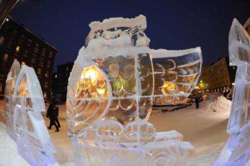 Сутки остаются до открытия впервые построенного в Норильске ледяного замка