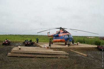 Вертолетную площадку отремонтировали в таймырском поселке Волочанка