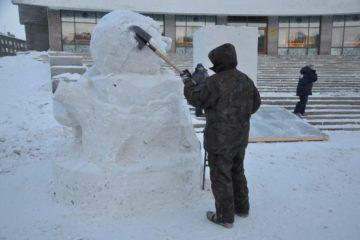 К строительству новогодних городков приступили во всех районах Норильска
