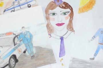 """Рисунок с изображением сотрудника таймырской ГАИ прошел на краевой этап конкурса """"Мои родители работают в полиции"""""""