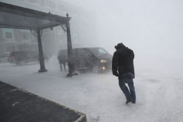 Штормовое предупреждение продолжает действовать в Норильске