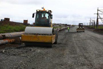 Новую технологию применяют при строительстве Северной объездной дороги в Норильске