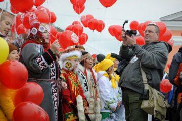Жители Дудинки установили рекорд России в разгар юбилейных торжеств