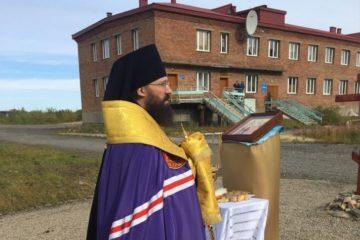 Освящено место под строительство Сретенского храма в Снежногорске