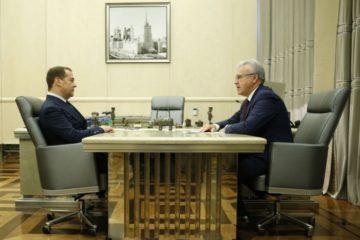Российский премьер встретился с врио губернатора Красноярского края