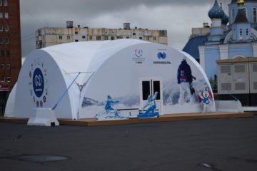 Школьники из Китая посетили шатер Универсиады-2019 в Красноярске