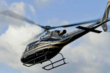 В красноярском фанпарке «Бобровый лог» отработали госпитализацию с горнолыжного склона на вертолете
