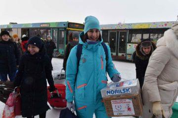 Группа волонтеров Универсиады от «Норникеля» вылетела из Норильска в Красноярск
