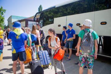 Сегодня первая смена школьников вылетела в анапский лагерь «Вита»