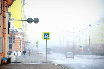 Туман в Норильске перемежается с газом заводов