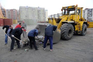 Норильчане начинают  большую уборку после зимы