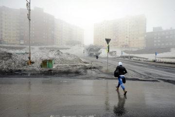 В преддверии ледохода Норильск окутал туман