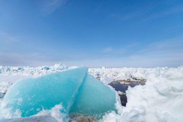 В Дудинке – ледоход