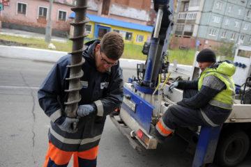 В Норильске поставили новые светофоры и пешеходные ограждения