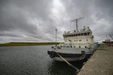 Ледокол «Авраамий Завенягин» вернулся в порт Дудинка после ремонта