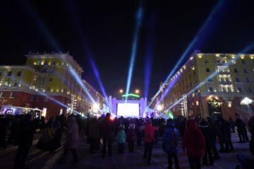 Световым шоу завершился этнофестиваль «Большой Аргиш»