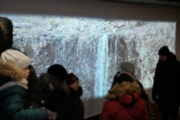 В кинокомплексе «Родина» проходит видеомаппинг «Северное сияние и тундра».