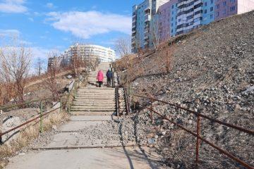 Лестницу к пятому микрорайону в Талнахе превратят в достопримечательность