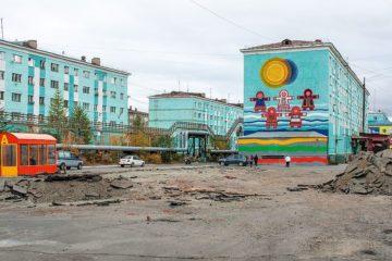 В Дудинке начали обустраивать новую площадь «Притяжение Таймыра»