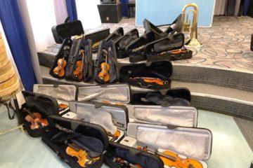 Новые бубны, барганы и скрипки получила школа искусств в Дудинке