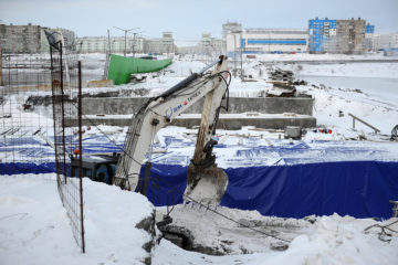 В Норильске закончили первый этап реконструкции автодорожного моста на Октябрьской