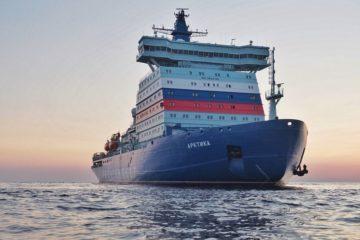 Атомный ледокол «Арктика» вышел в первый рейс по Севморпути