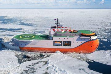 Самодвижущуюся платформу «Северный полюс» спустили на воду