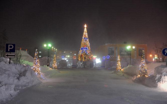 В день открытия снежных городков полярная ночь в Норильске озарится салютом