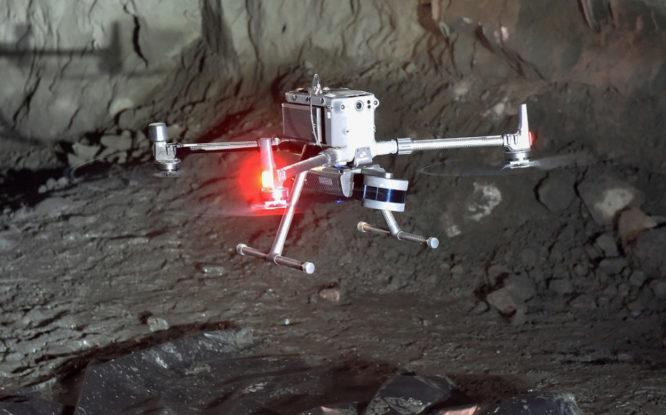 В Заполярном филиале прошли испытания маркшейдерского дрона нового поколения