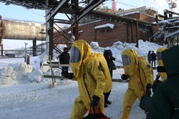 В Норильске оперативно ликвидировали условную утечку серной кислоты
