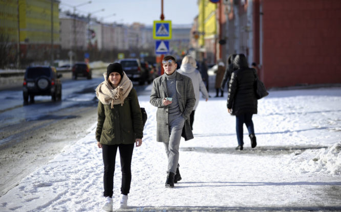 В Норильске выбирают адреса для благоустройства