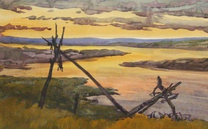 Мотюмяку Турдагин на своих работах вместе с подписью часто изображал идолков